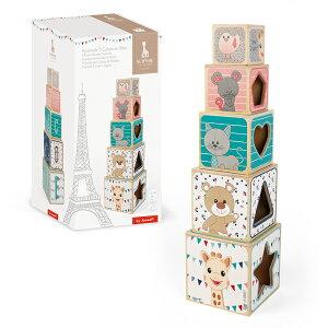 【フランストイブランド】Janod(ジャノー)キリンのソフィー・タワーブロック