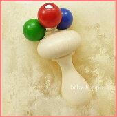 ティキネフ社人気木のおしゃぶりベビーラトル木製玩具《ラッピング無料》