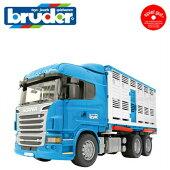BruderブルーダープロシリーズBR03549SCANIA牛運搬トラック&牛セット