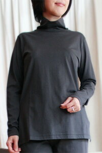 感動の肌触り・奇跡の柔らか綿!GIZA45(ギザ45)レディース高級長袖Tシャツ【タートル・トップス・無地】【楽ギフ_包装選択】