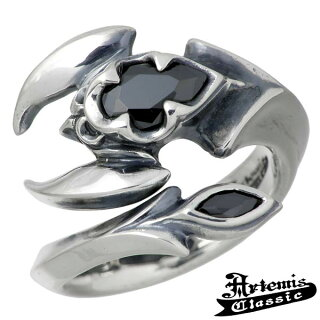 ArtemisClassic【アルテミスクラシック】ポイズンスコーピオンシルバーリング指輪メンズブラックキュービック15~21号