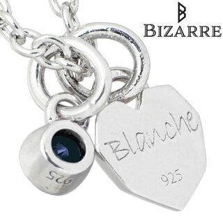 【NEW】Bizarre【ビザール】クールシルバーネックレスハートタンザナイト誕生石レディース