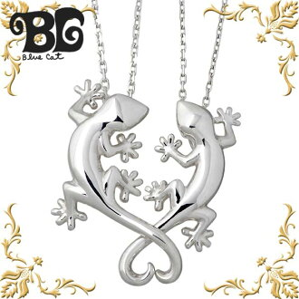 Blue Cat silver Gecko pair necklace mens Womens pendant pair axe por item