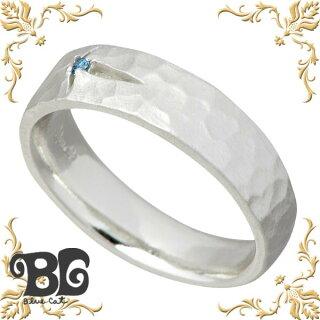 【】[BlueCat]【ブルーキャット】クロスデザインブルーダイヤモンドシルバーリング/レディース/ダイアモンド/ツヤ消し/指輪/シルバー925/9~15号【_包装選択】ラッピング無料