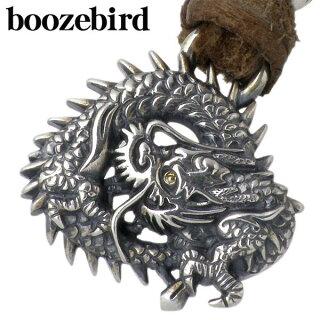 【boozebird/ブーズバード】輪龍シルバーペンダントトップ/K24/ネックレス