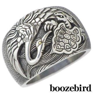 【ブーズバード】boozebird鶴亀シルバーリング指輪K2415~30号シルバーアクセシルバーアクセサリーシルバー925【_包装選択】ラッピング無料