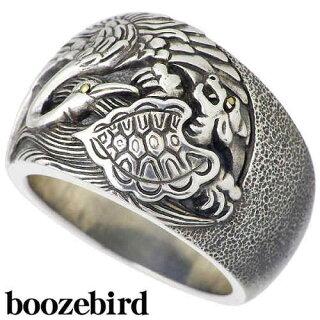 【boozebird/ブーズバード】鶴亀シルバーリング/指輪/K24/15~30号