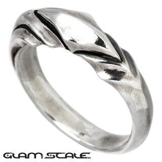 【GLAM・SCALE】デザインシルバーリング/M/指輪