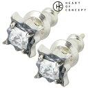 ハートオブコンセプト HEART OF CONCEPT ストーン シルバー ピアス アクセサリー クリア キュービック 2個売り 両耳用 スタッドタイプ シルバー925 スターリングシルバー HCE-25CZ-P