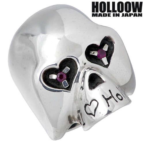 HOLLOOW【ホロウ】 ペンギン シルバー リング ルビー スカル ドクロ 髑髏 ハート 10〜25号 指輪 シルバーアクセサリー シルバー925 KHR-14