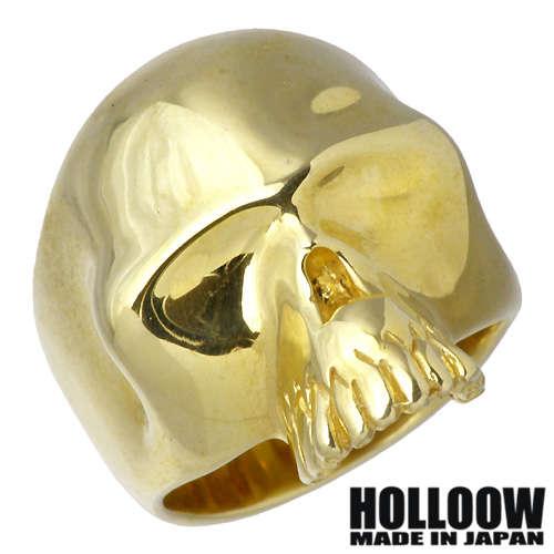 HOLLOOW【ホロウ】 アイレス シルバー リング ゴールドコーティング キュービック スカル ドクロ 髑髏 10〜25号 指輪 シルバーアクセサリー シルバー925 KHR-31GD