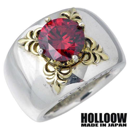HOLLOOW【ホロウ】 エデン シルバー リング ゴールドコーティング キュービック 10〜25号 指輪 シルバーアクセサリー シルバー925 KHR-32RD