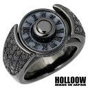 HOLLOOW【ホロウ】 トェルブ ナンバー シルバー リング ブラックコーティング キュービック 10〜25号 指輪 シルバーアクセサリー シルバー925 KHR-35BK