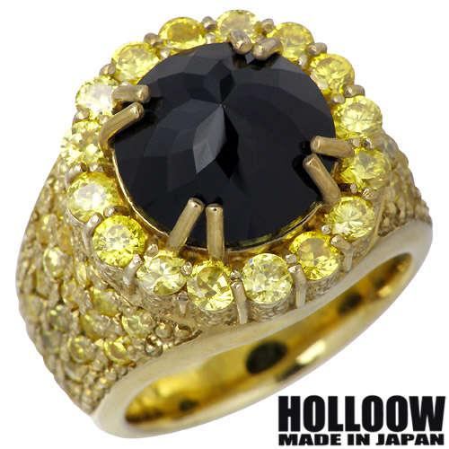 HOLLOOW【ホロウ】 レクイエム シルバー リング ゴールドコーティング キュービック 10〜25号 指輪 シルバーアクセサリー シルバー925 KHR-49GD