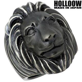 【ホロウ】HOLLOOWドミニオンズライオンシルバーリングブラックコーティング獅子10~25号指輪シルバーアクセシルバーアクセサリーシルバー925【_包装選択】ラッピング無料