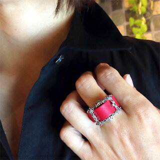 【NEW】K-SMITH【ケースミス】バックルRINGレザーリング牛革キュービック指輪15~23号