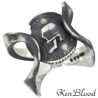 【ケンブラッド】KENBLOODプライドシルバーリングAスカルコイン指輪19~25号シルバーアクセシルバーアクセサリーシルバー925【_包装選択】