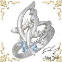 未来天使 Mirai Tenshi 天使の羽ばたき シルバー リング ブルートパーズ 指輪 アクセサリー 7〜15号 シルバー925 スターリングシルバー MIR-2129BT