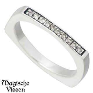 【】【MagischeVissen/マジェスフィッセン】プチプチダイヤシルバーリング/ダイヤモンド/レディース/指輪/7~13号【_包装選択】ラッピング無料