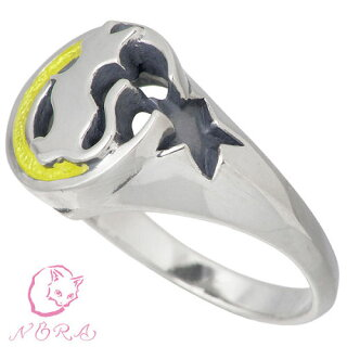 【NORAXSies★のら/ノラXシーズ】ムーンキャットシルバーリング/指輪/7〜21号