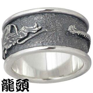 新作!!ノベルティキャンペーン対象!!【龍頭/RYUZU】龍シルバーリング/指輪/17~23号/ドラゴン