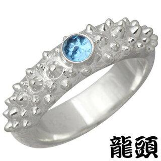 [龍頭/RYUZU]霰(あられ)シルバーリング/石付き/指輪/12~26号