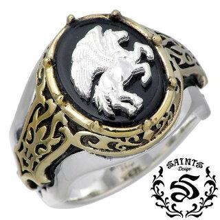 SAINTS【セインツ】シルバーリング指輪メンズペガサス17~21号