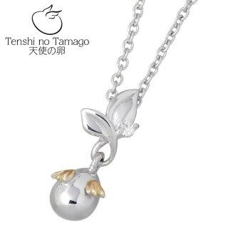 【天使の卵】TenshinoTamago天使の卵~希望の芽~シルバーネックレス(ロジウム加工)天使881DRMダイヤモンド【_包装選択】ラッピング無料