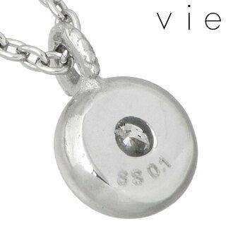vie【ヴィー】ダイヤモンドステンレスネックレス一粒石【_包装選択】ラッピング無料