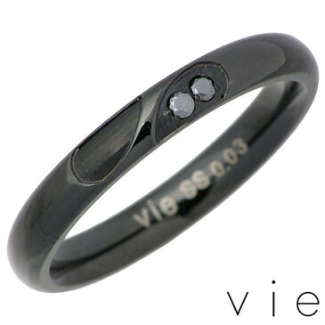 vie【ヴィー】 ステンレス ダイヤモンド甲丸リング 金属アレルギー対応 ハート メンズ ステンレス アクセ 指輪 13〜21号 アレルギーフリー vie-R1177BK