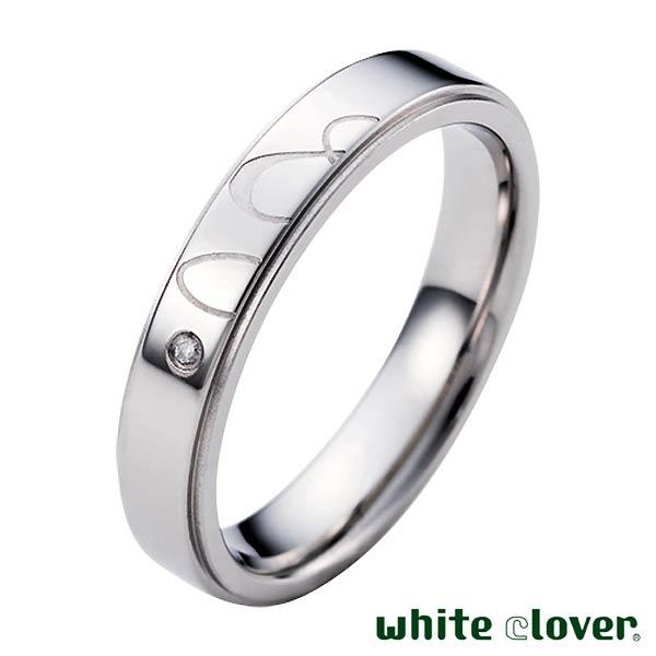white clover【ホワイトクローバー】 リング 指輪 アクセサリー 金属アレルギー対応 & アンド ステンレス メンズ ダイヤモンド 13〜19号 アレルギーフリー 刻印可能 4SUR053SV