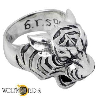 【ウルフマンB.R.S】WOLFMANB.R.Sタイガーマンシルバーリング指輪シルバーアクセシルバーアクセサリーシルバー925【P12Jul15】