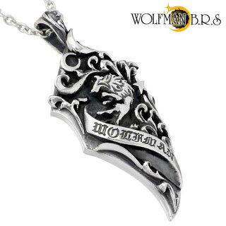 【NEW】WOLFMANB.R.S【ウルフマンB.R.S】パルメットウルフクロウシルバーペンダントトップ狼