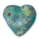 COLORIQUE/カラリク ビンテージサリーハート♡クッション(グリーン) 【Bindi Filled Heart Cushion 】【RCP】