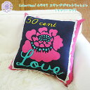 COLORIQUE/カラリク スタンププリントクッション(フラワーラブ)【Chokhi Stamps Cushion Cover Stamp, Flower Love】【RCP】