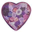 COLORIQUE/カラリクビンテージサリーハート♡クッション(パープル)【Bindi Filled Heart Cushion 】【RCP】