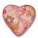 COLORIQUE/カラリクビンテージサリーハート♡クッション(ベビーピンク)【Bindi Filled Heart Cushion 】【RCP】