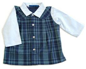 jean michel broc[ジャン・ミッシェル][ミッキー]ベルベット・チェックベストシャツ(6ヶ月)【出産祝い】男の子【お誕生日】1歳:男
