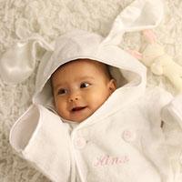 出産祝いに喜ばれるバスローブ♪(出産祝い・バスローブ・名前入り)【出産祝い】出産祝いに 3...