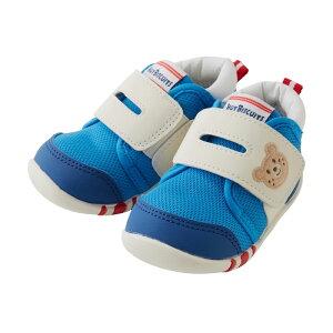 56d2a8774e0da  箱付 ミキハウス ホットビスケッツ mikihouse スポーティファーストベビーシューズ ブルー  11.5~13cm  出産祝 ギフト ベビー靴  子供靴 男の子 MIKIHO.