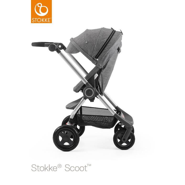 【ベビーカー】【1ヶ月〜3歳対象】Stokke™ Scoot (ストッケ スクート2) ブラックメラーンジ(シートベース/キャノピー) *Stokke™ (ストッケ)*:MIKIHOUSE MUM&BABY