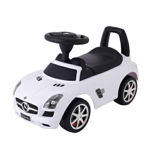 乗用メルセデスベンツ SLS AMG ホワイト 乗用玩具 足けり乗用 押し車 子供用乗り物【ワールド 野中製作所】送料無料(北海道・沖縄は対象外)