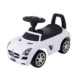 乗用メルセデスベンツ SLS AMG ホワイト 乗用玩具 足けり乗用 押し車 子供用乗り物 【ワールド 野中製作所】