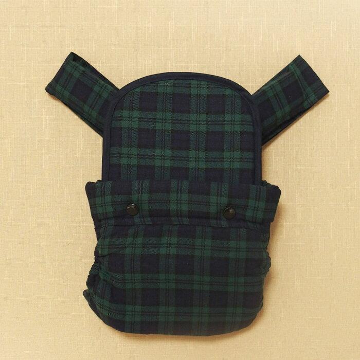 昔ながらのおんぶひも 日本製 使いやすいシンプルデザイン ブラックウォッチ おんぶ紐