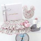 panpantutuパンパンチュチュフリフリBOX/ローズワルツ◆プレゼント・ギフト・出産祝い・お祝い・キッズ・ベビー・赤ちゃん・ベビー用女の子・ビブ・スタイ・フリフリ・ブルマ・靴下・可愛い・花・リボン・ピンク◆