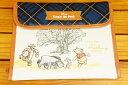 クーザDisney ディズニーくまのプーさん(ブルーチェック)ジャバラマルチケース(母子手帳ケース)DJM-2409K