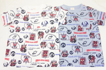 ナカタ BANDAI仮面ライダーセイバー半袖Tシャツ総柄プリント(左胸ポケット付き)SQ9030 100cm-120cm