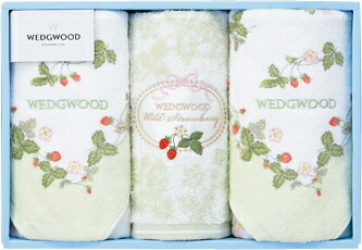 """[Shipping] G wedgwoodwildstrawberry towel set (green) < birth family, 内祝i, and celebrations in return""""(his mid-year and year-end gift) [RCP]"""