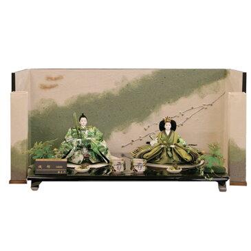 藤匠 後藤由香子作 織部 親王飾り 2人飾り創作雛人形  雛人形