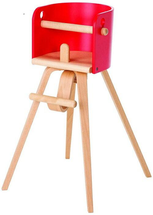 カロタチェア 木製ハイチェア 【CRT-01H】 レッド 組立式《Sdi Fantasia Carota-chair》【xx10】:赤ちゃんデパート